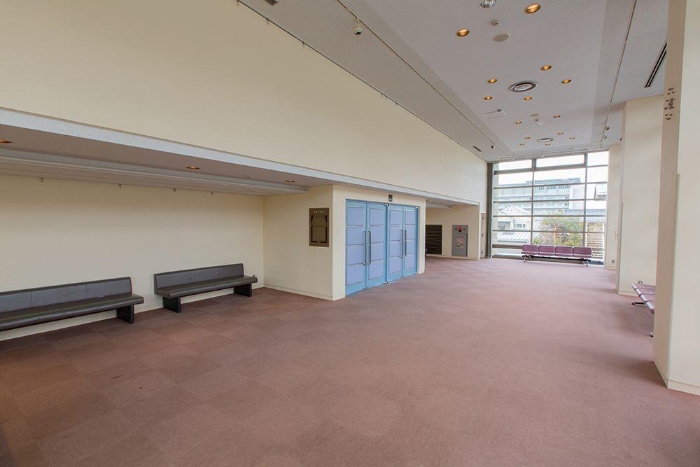 松代文化ホールの楽屋